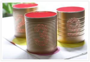 DIY Tin Cans by 100 Layer Cake