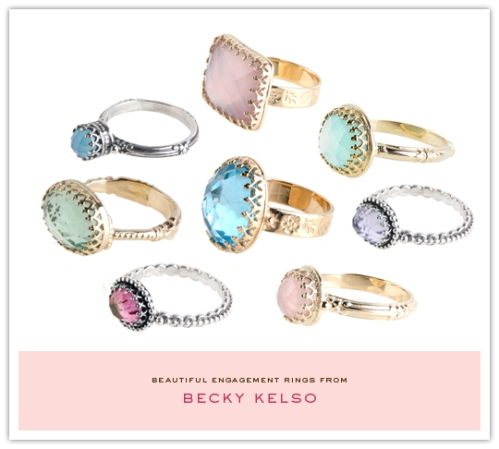 The Inspired Bride inspired me with these Becky Kelso rings!