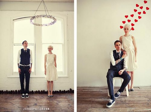 ...and the highly creative couple, Paul and Cassie, as seen on Grey Likes Weddings