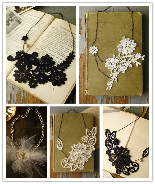 White Owl necklaces on The Inspired Bride