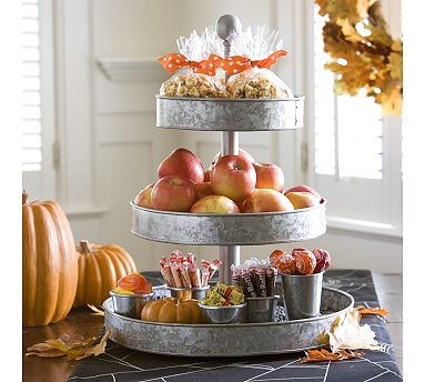 Galvanized metal cupcake stand from Bellissima Vita Weddings