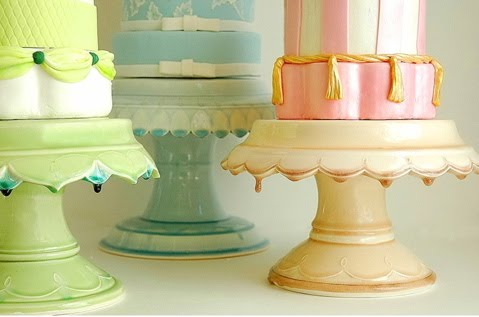 Clara French cake stands on With This Ring Weddings